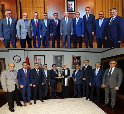 Belediye Başkanları, Gazi Meclisimizi ve Basın Kuruluşlarını Ziyaret Etti