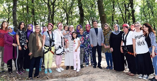 Anneler ve Çocukları Birlikte Kampa Girdi