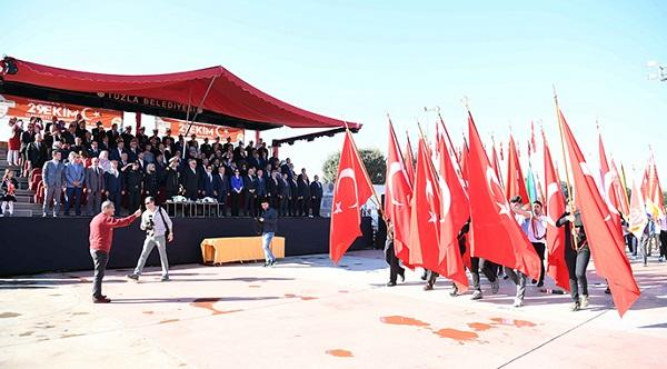 Cumhuriyet Bayramımız Tuzla'da Coşkuyla Kutlandı