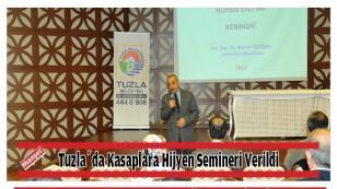 Tuzla'da Kasaplara Hijyen Semineri Verildi