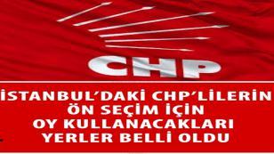 İşte CHP'de 1. Bölgede Oy Kullanılacak Okullar