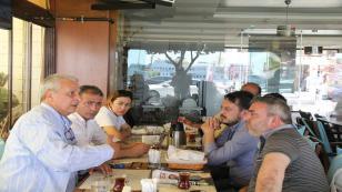 Can Ataklı Tuzla'da yerel basınla buluştu