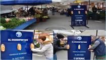 Tuzla Belediyesi'nden Pazar Girişlerine El Dezenfektanı