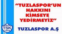 Tuzlaspor'dan TFF'ye Kınama