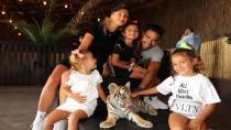 Galatasaraylı Falcao, Tuzla Marina'da Ailesiyle Aslan Park'ı gezdi