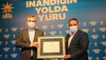 Suat Durak'a Bayram Şenocak'tan Teşekkür Beratı