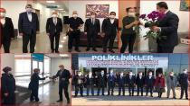 Tuzla MHP'den Devlet Hastanesine Çiçekli Teşekkür ve Moral Ziyareti