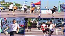 Tuzlalı Sporseverler Ayak Tenisi Turnuvasında Bir Araya Geldi