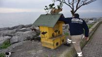 Tuzla'da 80 Saatlik Kısıtlamada Sokak Hayvanları Unutulmadı